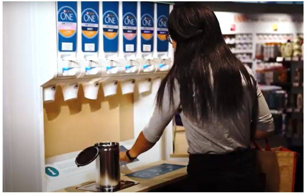 Nestle refillable containers pilot